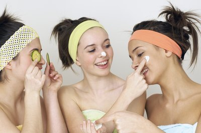 Use the acne scar repairing treatments as recommended.