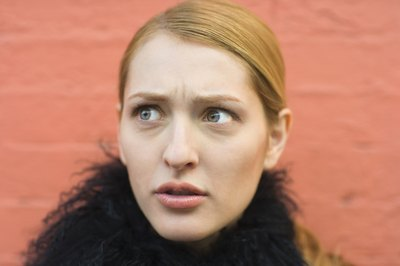 Woman with confused expression