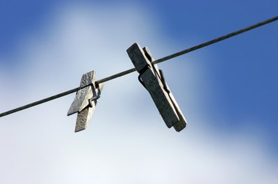 Hanging clothes on a line saves electricity and protects the environment.
