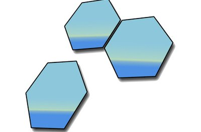 Hexagons are six-sided shapes.