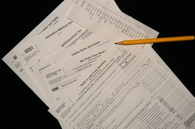 Tax forms provide financial information for the application.
