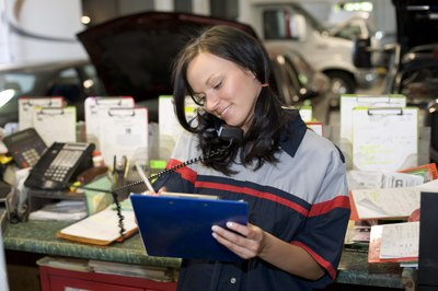A procurement assistant maintains contact with suppliers.