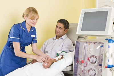 Patient care is a large part of a dialysis technician's job.