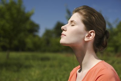 Guided imagery exercises can be combined with deep breathing to promote relaxation.