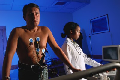 A stress test measures your heart's response to exercise.