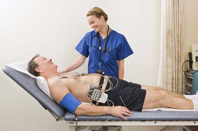 EKG technicians use electrocardiograms to monitor heart rates.