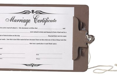 A marriage certificate proves you are legally married.