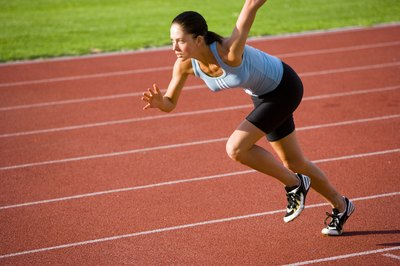 In a sprinting workout, the emphasis is more on technique than on running all-out.