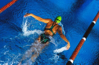 The butterfly is one of four competitive swimming strokes.