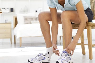 Heavy shoes work similarly to ankle weights and provide resistance with chair exercises.
