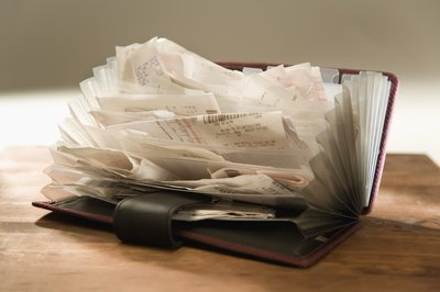 Receipts can protect you from a huge bill if you're audited.