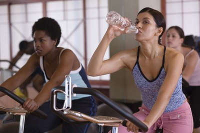 Take bottled water to your spinning class.