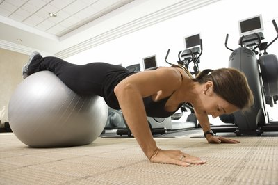 Pushups work the chest and triceps