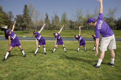 Stretches improve the flexibility and performance of all softball players.