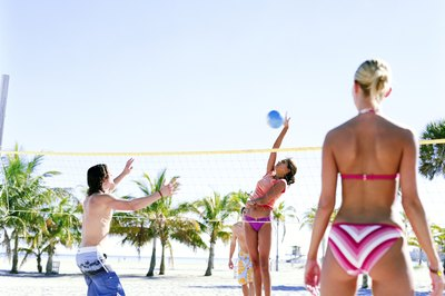 Keep well-toned upper and lower-body muscles to play volleyball.