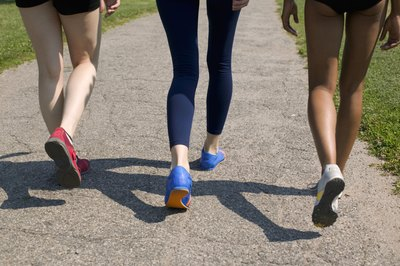 A pair of walking shoes -- and some fun company -- can make your training easier.