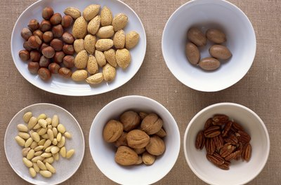 Peanuts and tree nuts provide linoleic acid and cholesterol-lowering phystosterols.