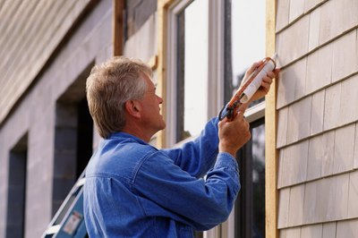 Trim around windows, doors and eaves is an imporant part of siding a house.