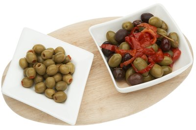 Stuffed olives contain heart-healthy fats and beneficial antioxidants.