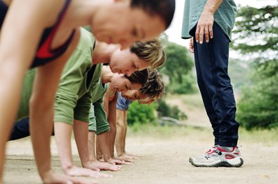Get a killer workout by following a boot camp class.