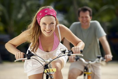 Biking and running both help you burn calories.