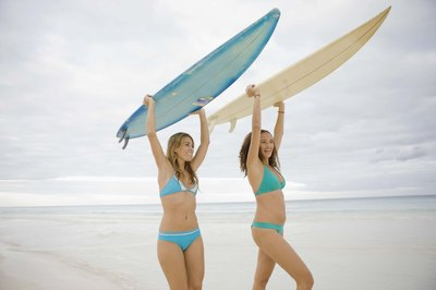 Surfing is great fun and great exercise.