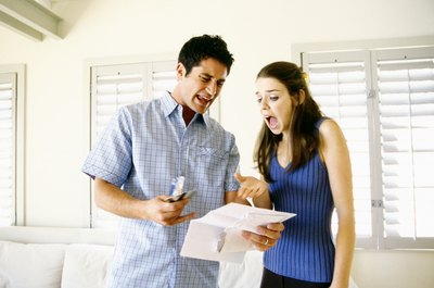 Debt problems can have a negative effect on a couple's relationship.