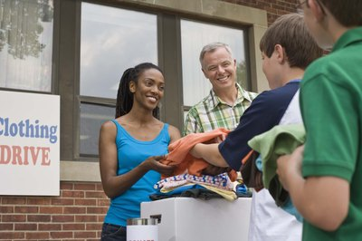Donating is a good way to recycle items you no longer need.