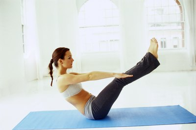 Full Boat Pose works hip flexors.