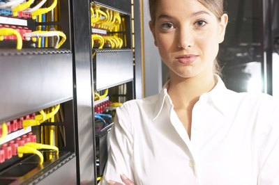 IT specialists often work on network administration and security.