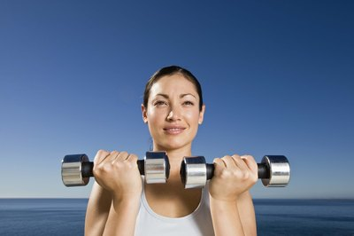 There's no time to lose before picking up the dumbbells.