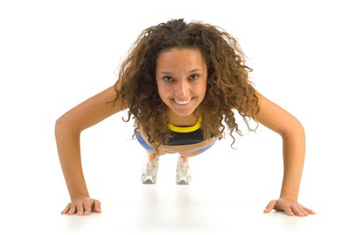 Pushups strengthen all of your running muscles and more.