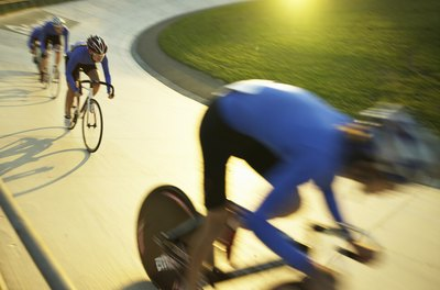 Explosive leg strength and speed are must-haves in track cycling.