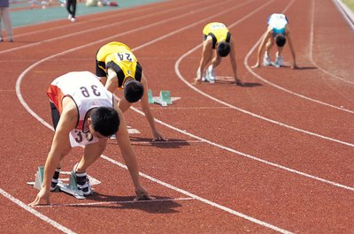 Sprinters need fast-twitch muscles to explode off the blocks.