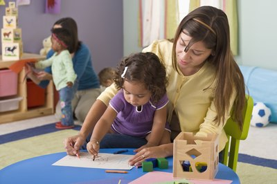 With an early childhood degree, women can teach preschoolers in day care centers or public education programs.