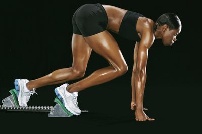 Sprinting is one way to get bigger calves.