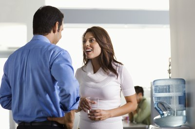 Overly-familiar relationships can negatively affect others in the office.