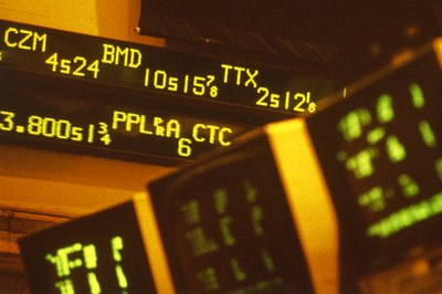 A stock market price ticker