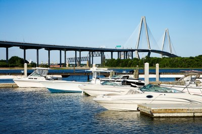 The Arthur Ravenel Bridge is an attraction in Charleston, South Carolina landmark.