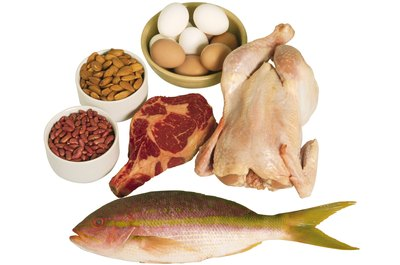 Get protein from fish, poultry, meat, eggs, nuts and beans.
