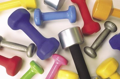 Dumbbells don't take up much room, but give you a great workout.