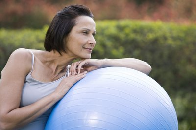 Incorporating fitness ball exercises can help you lose weight more quickly.