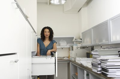 Medical records should be stored in a separate cabinet from personnel files.
