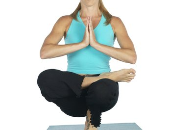 The toe stand is a challenging Bikram yoga posture.