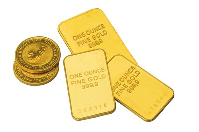 Gold and silver bullion comes in coins or ingots.