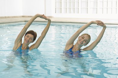 Water aerobics promotes weight loss and is easy on your joints.