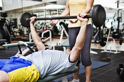 Bench presses are an effective compound exercise for the upper body.