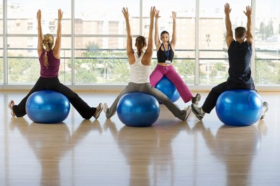 Exercise balls take pressure off herniated discs.