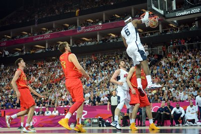 LeBron James led the USA to victory in the 2012 Olympics.