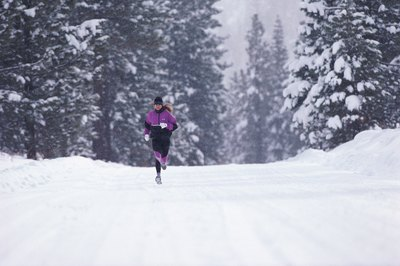 Enjoy the wintery season with a refreshing run, but do so safely.